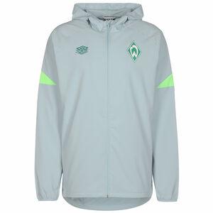 SV Werder Bremen Regenjacke Herren, hellgrau / neongrün, zoom bei OUTFITTER Online