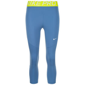 Pro Capri Trainingstight Damen, blau / hellgrün, zoom bei OUTFITTER Online