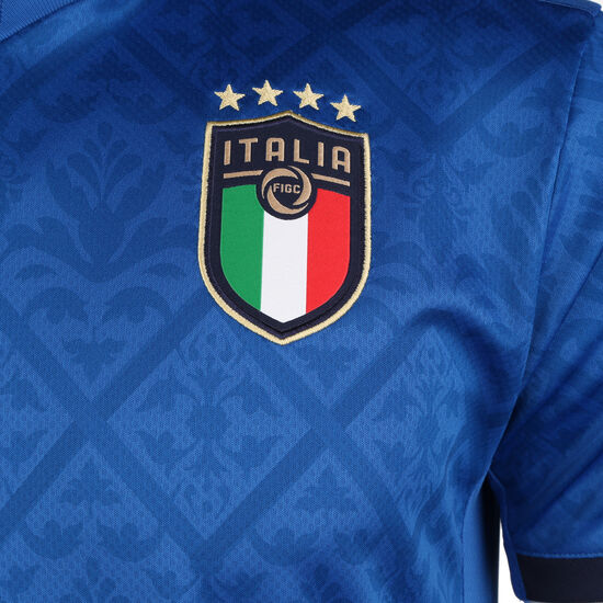 Italien Trikot Home EM 2021 Herren, blau / dunkelblau, zoom bei OUTFITTER Online