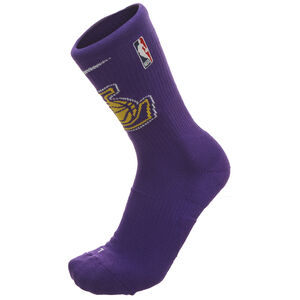 NBA Los Angeles Lakers Elite Crew Socken, lila / gelb, zoom bei OUTFITTER Online