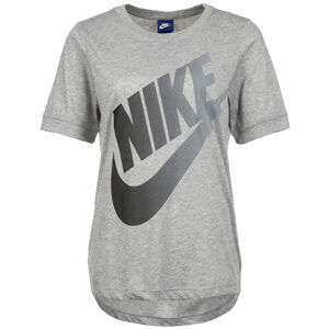 Logo Futura T-Shirt Damen, grau / dunkelgrau, zoom bei OUTFITTER Online