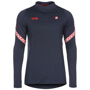Kroatien Dry Strike Drill Sweatshirt EM 2021 Herren, dunkelblau / rot, zoom bei OUTFITTER Online