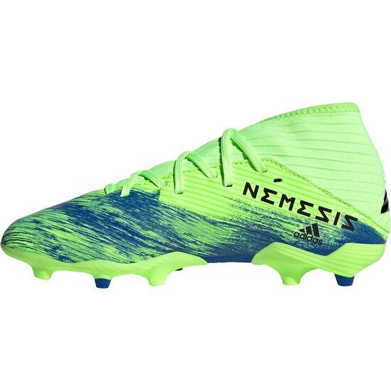 Nemeziz 19.3 FG Fußballschuh Kinder, neongrün / blau, zoom bei OUTFITTER Online