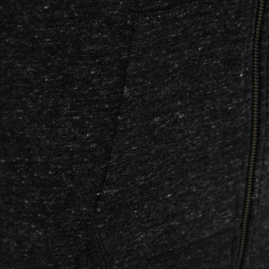 Gym Vintage Kapuzenjacke Damen, anthrazit / weiß, zoom bei OUTFITTER Online