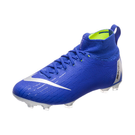 Mercurial Superfly VI Elite FG Fußballschuh Kinder, blau / silber, zoom bei OUTFITTER Online