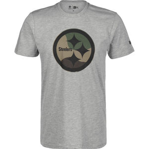 NFL Pittsburgh Steelers Camo Logo T-Shirt Herren, hellgrau, zoom bei OUTFITTER Online