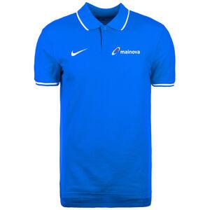 Mainova Polo TM Club19 SS Poloshirt Herren, blau / weiß, zoom bei OUTFITTER Online