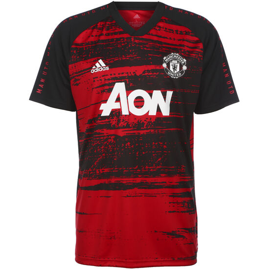 Manchester United Pre-Match T-Shirt Herren, rot / schwarz, zoom bei OUTFITTER Online