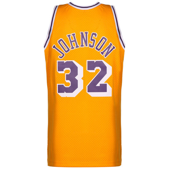 NBA LA Lakers Swingman 2.0 Magic Johnson Basketballtrikot Herren, gelb / lila, zoom bei OUTFITTER Online
