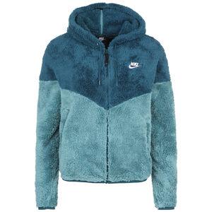 Windrunner-Style Kapuzensweatjacke Damen, türkis / hellblau, zoom bei OUTFITTER Online