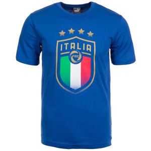 FIGC Italien Badge T-Shirt Herren, blau, zoom bei OUTFITTER Online