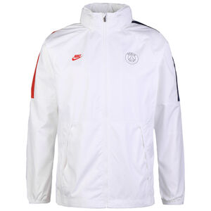 Paris St.-Germain All Weather Lite Regenjacke Herren, weiß / dunkelblau, zoom bei OUTFITTER Online