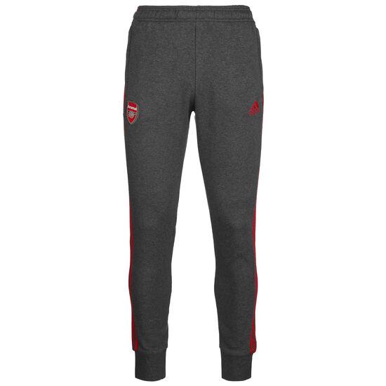 FC Arsenal 3-Streifen Trainingshose Herren, dunkelgrau / rot, zoom bei OUTFITTER Online