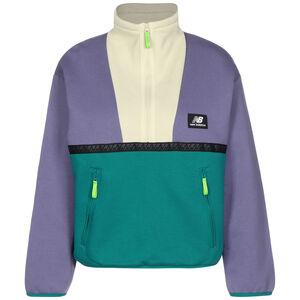 Athletics Terrain Reverse 1/4 Zip Sweatshirt Damen, violett / grün, zoom bei OUTFITTER Online