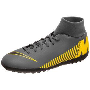 Mercurial SuperflyX VI Club TF Fußballschuh Herren, dunkelgrau / gelb, zoom bei OUTFITTER Online