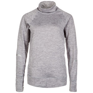 Heat Quarter-Zip Laufshirt Damen, Grau, zoom bei OUTFITTER Online