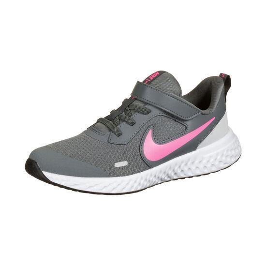 Revolution 5 Laufschuh Kinder, dunkelgrau / pink, zoom bei OUTFITTER Online