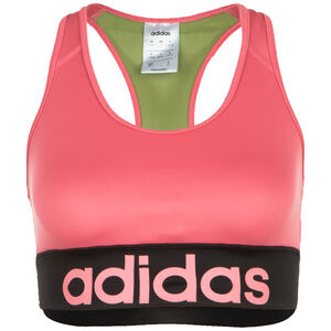 Design 2 Move Logo Sport-BH Damen, pink / oliv, zoom bei OUTFITTER Online