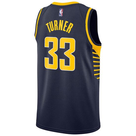 NBA Indiana Pacers #33 Turner Basketballtrikot Herren, dunkelblau / gelb, zoom bei OUTFITTER Online