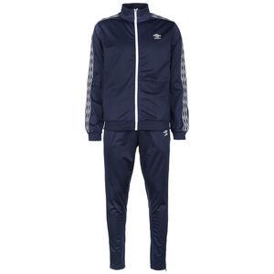 Active Style Taped Tricot Trainingsanzug Herren, dunkelblau / weiß, zoom bei OUTFITTER Online