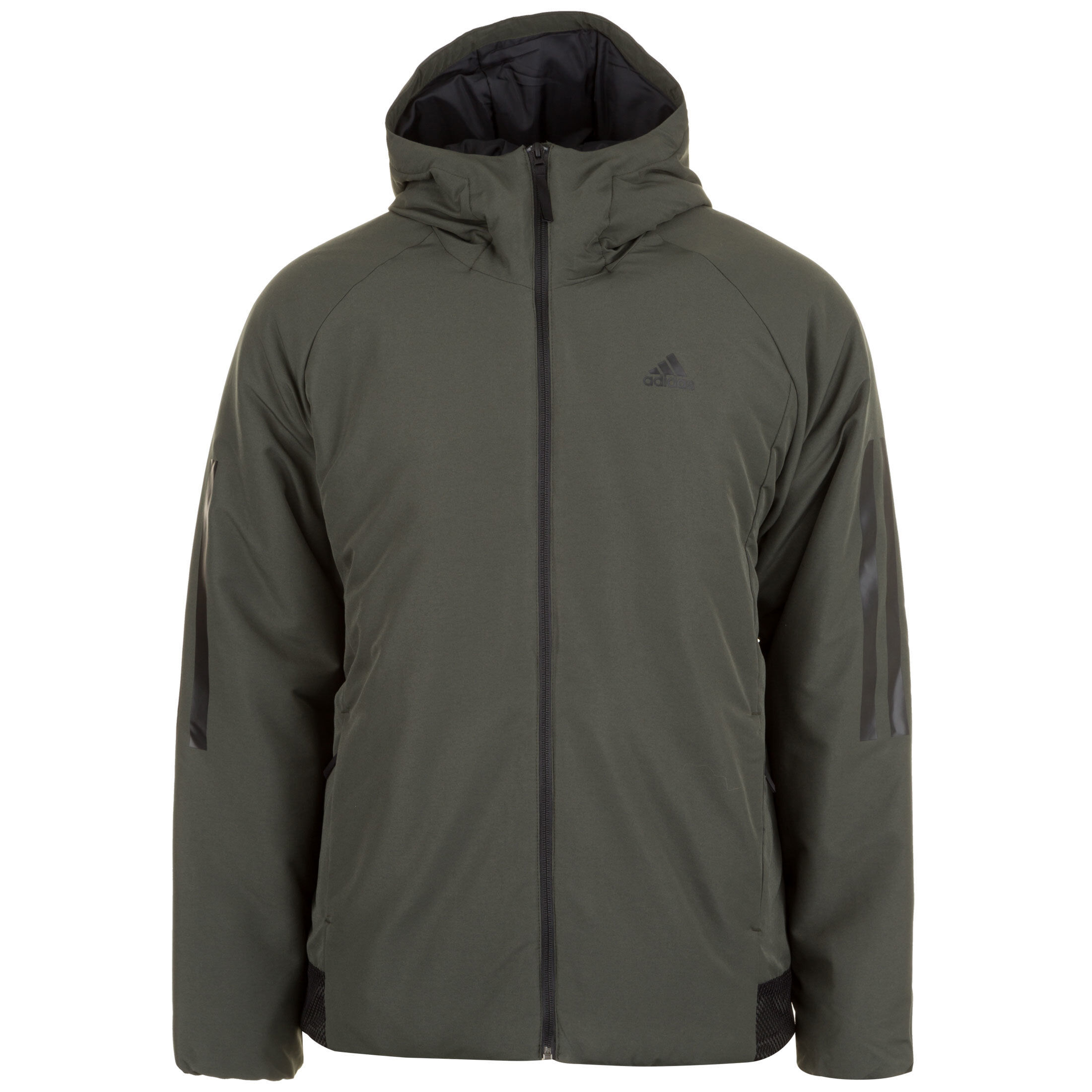 ADIDAS PERFORMANCE 3 STREIFEN Hooded Insulated Kapuzenjacke