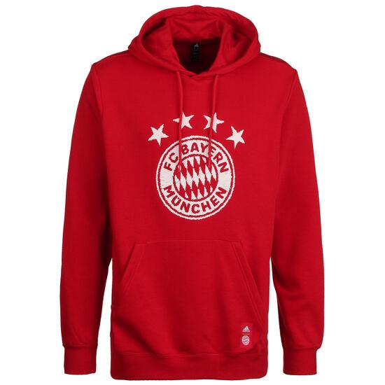 FC Bayern München DNA Kapuzenpullover Herren, rot / weiß, zoom bei OUTFITTER Online