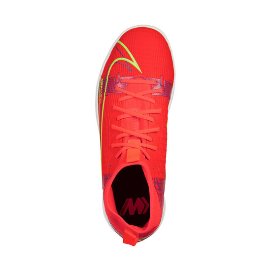 Mercurial Superfly 8 Academy DF Indoor Fußballschuh Kinder, neonrot / hellgrün, zoom bei OUTFITTER Online