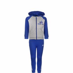 Badge Of Sport Full-Zip Jogginganzug Kleinkinder, grau / blau, zoom bei OUTFITTER Online