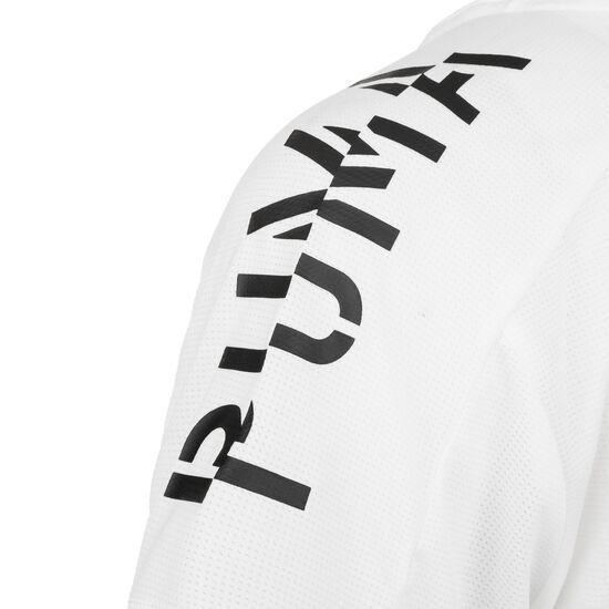 Logo Graphic Cropped Trainingsshirt Damen, weiß / schwarz, zoom bei OUTFITTER Online