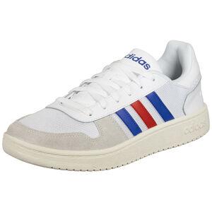 Hoops 2.0 Sneaker Herren, weiß / blau, zoom bei OUTFITTER Online