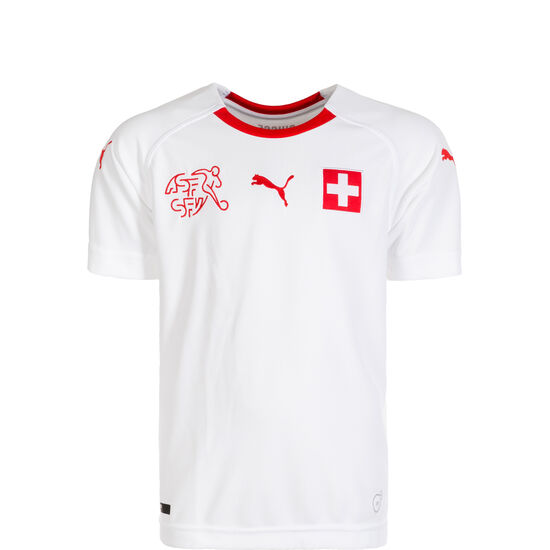 Schweiz Trikot Away WM 2018 Kinder, Weiß, zoom bei OUTFITTER Online