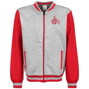 1. FC Köln Sportswear Jacke Herren, grau / rot, zoom bei OUTFITTER Online