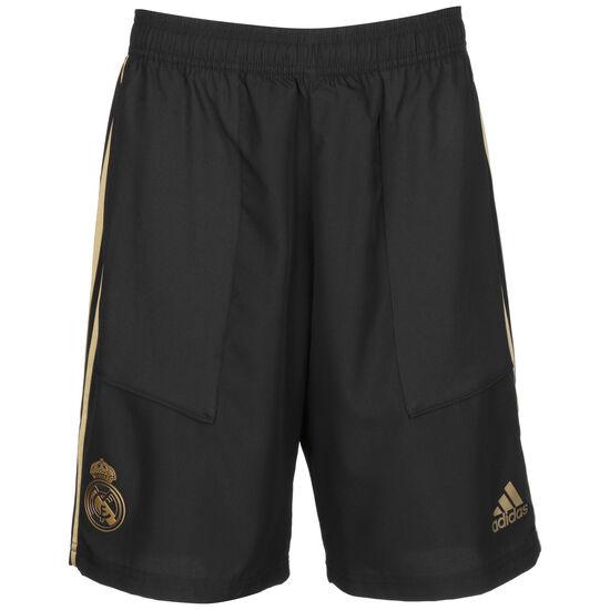 Real Madrid Woven Trainingsshort Herren, schwarz / gold, zoom bei OUTFITTER Online