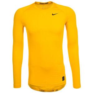 Pro Dry Compression Trainingsshirt Herren, gelb / schwarz, zoom bei OUTFITTER Online