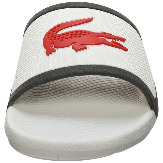 Croco Slide Badesandale, weiß / rot, zoom bei OUTFITTER Online