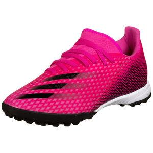 X Ghosted.3 TF Fußballschuh Herren, pink / schwarz, zoom bei OUTFITTER Online