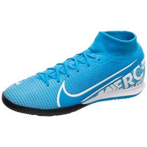 Mercurial SuperflyX VII Academy Indoor Fußballschuh Herren, blau / weiß, zoom bei OUTFITTER Online