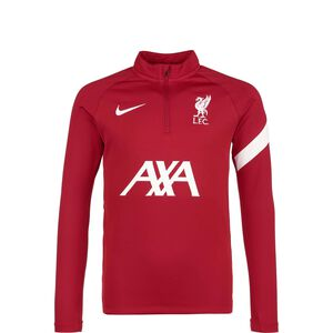 FC Liverpool Academy Pro Drill Trainingssweat Kinder, rot / weiß, zoom bei OUTFITTER Online