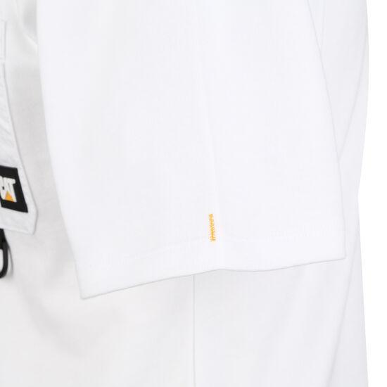 CAT 30s Pocket T-Shirt Herren, weiß / schwarz, zoom bei OUTFITTER Online