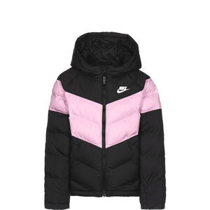 Synthetic Fill Winterjacke Kinder, schwarz / rosa, zoom bei OUTFITTER Online