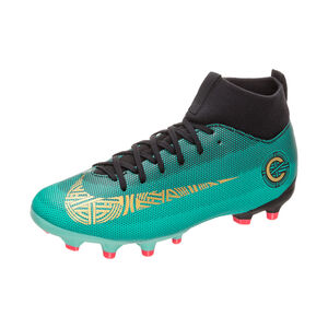Mercurial Superfly VI CR7 Academy MG Fußballschuh Kinder, Grün, zoom bei OUTFITTER Online