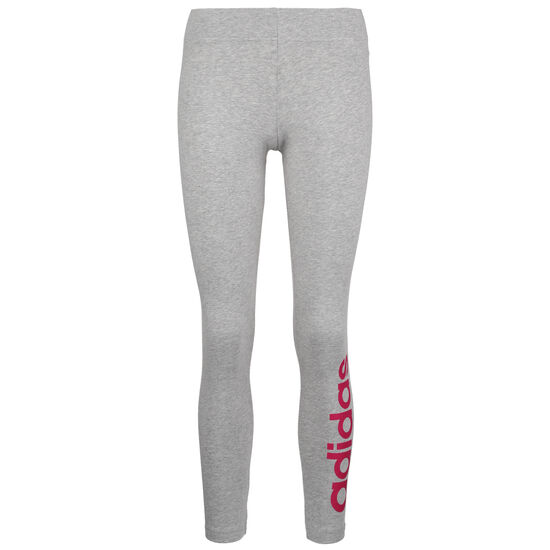 Essentials Linear Trainingstight Damen, grau / pink, zoom bei OUTFITTER Online