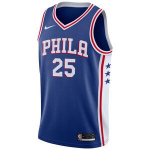 NBA Philapelphia 76ers #25 Simmons Basketballtrikot Herren, blau / weiß, zoom bei OUTFITTER Online