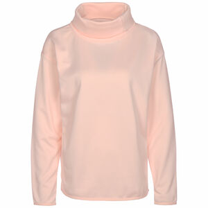Fleece Funnel Neck Trainingssweatshirt Damen, rosa, zoom bei OUTFITTER Online