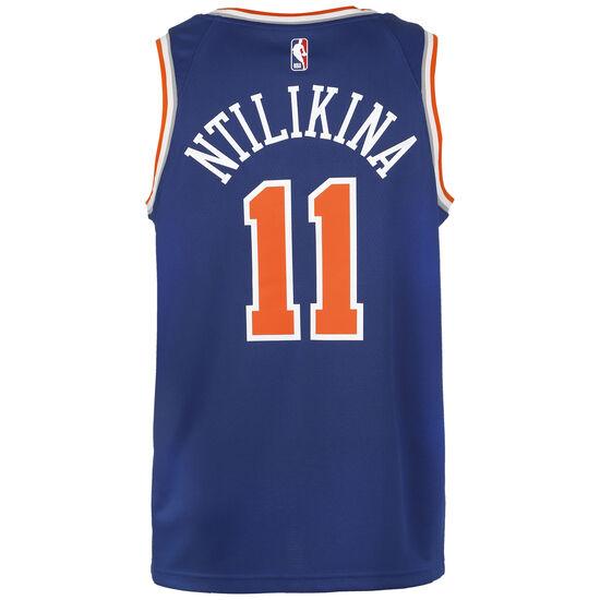 NBA New York Knicks Frank Ntilikina Swingman Icon 2020 Trikot Herren, blau / rot, zoom bei OUTFITTER Online