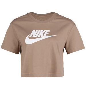 Essential Cropped T-Shirt Damen, beige / weiß, zoom bei OUTFITTER Online