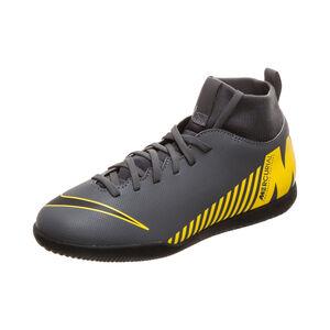 Mercurial SuperflyX VI Club Indoor Fußballschuh Kinder, dunkelgrau / gelb, zoom bei OUTFITTER Online