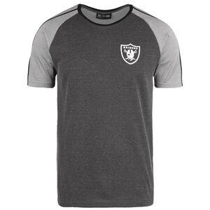 NFL Stripe Raglan Oakland Raiders T-Shirt Herren, schwarz / grau, zoom bei OUTFITTER Online
