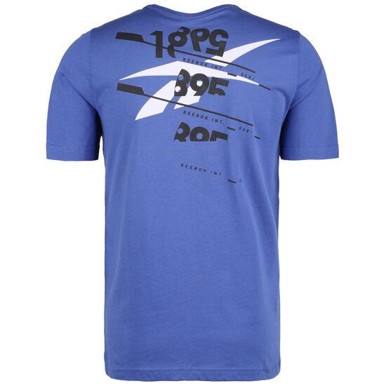 Graphic Cotton Trainingsshirt Herren, blau, zoom bei OUTFITTER Online