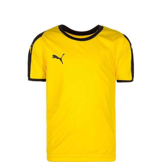 Liga Fußballtrikot Kinder, gelb / schwarz, zoom bei OUTFITTER Online